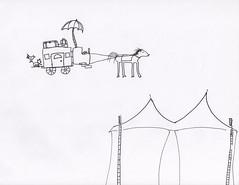 Circus Tent (Laboratory5) Tags: balckandwhite paper ink