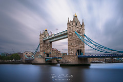 Tower Bridge (Iván Calamonte) Tags: london londres uk britain reinounido europe greatbritain towerbridge monument mood longexposure clouds travel bridge tower river thames water skyscape sky city architecture nd ngc time filter