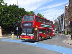 GAL PVL390 - LX54HAA - CHELSEA BRIDGE - FRI 5TH JULY 2019 (Bexleybus) Tags: chelsea bridge central london embankment goahead go ahead commercial wimbledon tennis bus route 839 pvl390 lx54haa plaxton president volvo b7tl