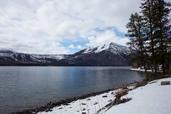 IMG_0765 (Nomadventurous) Tags: montana glaciernationalpark glaciers lake mountains snow ice winter fulltimerv rvlife rving travel wanderlust adventure explore nature