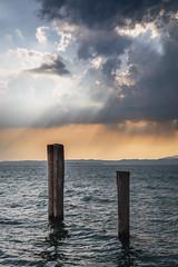 Stormy Night (Lars Øverbø) Tags: lake garda stormynight evening italy water sky poles canoneos5dmarkiv canon24105f4lis leendgrad