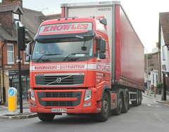 Knowles Transport . Cambridgeshire . AE60FTN . Hockrill , Bishop's Stortford , Hertfordshire . Tuesday 16th-July-2019 . (AndrewHA's) Tags: hertfordshire bishopsstortford truck lorry artic trailer knowles transport cambridgeshire ae60ftn red volvo fh