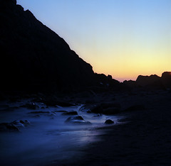 An excerpt from a quiet evening (Zeb Andrews) Tags: kodakektar hasselblad500c harrisbeach oregon oregoncoast film mediumformat longexposure sunset twilight ndfilter pacificnorthwest zaahphoto surf sand quiet