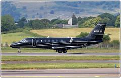 IMG_1788FL15 (Gerry McL) Tags: cessna citation sovereign 680 n612jd black glasgow scotland bizjet aircraft airplane