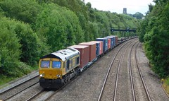 """66742 """" Port of Immingham Centenary 1912-2012"""" - Clay Cross, Derbyshire (The Walsall Spotter) Tags: claycross north junction gbrf class66 diesel locomotive namedlocomotive 66742 southampton doncaster iport freightliners containers networkrail britishrailways"""