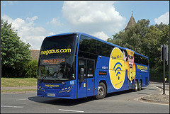Stagecoach 54216 (Jason 87030) Tags: interdeck volvo pplaxton elite church clouds man scooter blue yellow cake wifi bus wheels vehicle rugby warks warwickshire coach stagecoach story true shot sony ilce alpha a6000 july 2019