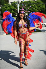 Beautiful Masquerader (Anthony Mark Images) Tags: beautifulwoman masquerader prettygirl people portrait pretty bluefeathers redbikini redfeathers redlips headress sandals gorgeous lovely canada caribbeanfestival socamusic iriemusicfestival mississauga ontario nikon d850 flickrclickx carnival