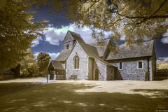 Church of the Holy Cross, Sarratt (revisited) (Biff_Brown) Tags: church sarratt infrared ir720 samyang12mmf2ncscsmft affinityphoto panasonicg6 samyang