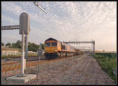 IMG_3451 (saltley1212) Tags: gbrf class66 667 66735 peterborough united wellingborough yard