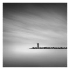 The Lighthouse (Marco Maljaars) Tags: longexposure northsea dutch le blackandwhite marcomaljaars pier velsen monochrome minimalism sky mood waterscape light bw netherlands water seascape lighthouse jetty wijkaanzee