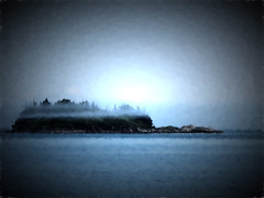"""Fog bands (Maine Islander) Tags: """"north haven maine"""""""