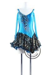 Blue Peacock Latin Rhythm Chacha Dance Competition Dress (Venus Dancewear) Tags: ballroomdress ballroomdancedress latindress dancewear venus latin competition dress dresses rhythm ballroom dance argentine tango