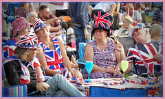 The joy of being British (geoff7918) Tags: leedscastle concert fireworks spitfire unionflag