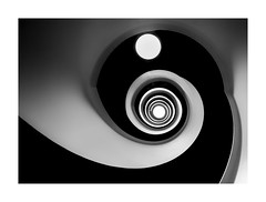 Pin Ball Wizard (TS446Photo) Tags: spiral stairs stockholm nikkor graphic abstract light black white monochrome blackandwhite travel fine art fineart artist