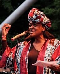 Ms. Aba anouncing Sauti Sol (Maarten Kerkhof) Tags: afrobeatsinthepark fujifilmxe2x sautisolkenia thehagueafricanfestival thehagueafricanfestival2019 zuiderparktheater xe2