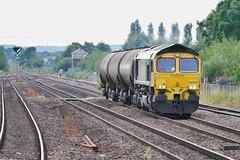 Getting Prettier (JohnGreyTurner) Tags: br rail uk railway train transport diesel engine locomotive lincs lincolnshire 66 class66 shed fl freightliner barnetby tanks freight goods