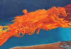 Mural Chariot of Fire Tucson Paintings (Ilhuicamina) Tags: wallart murals mythology chariots art tucson arizona paintings streetart
