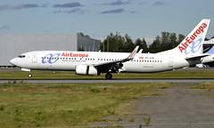 Air Europa EC-LVR, OSL ENGM Gardermoen (Inger Bjørndal Foss) Tags: eclvr aireuropa boeing 737 osl engm gardermoen