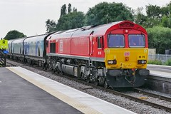 Bio Bio Everywhere (JohnGreyTurner) Tags: br rail uk railway train transport diesel engine locomotive lincs lincolnshire 66 class66 shed ews db dbs dbc barnetby biomass freight goods