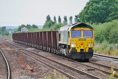 Publicly Owned Ore (JohnGreyTurner) Tags: br rail uk railway train transport diesel engine locomotive lincs lincolnshire 66 class66 shed fl freightliner barnetby ore ironore freight goods