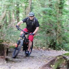 299 of Year 5 - Woodland tricky bit (I'm Tim Large) Tags: fuji fujifilm xe1 55200mm wood woodland forest trail mountain bike cycle ride rider path trek trekking route 365 299 zenite