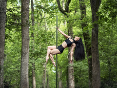 (dimitryroulland) Tags: nikon d750 85mm 18 dimitryroulland performer art artist poledance poledancer dance dancer pole green tree trees wild nature natural light toulouse france long hair