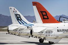 Boeing T-45C Goshawk - 38 (NickJ 1972) Tags: phoenix mesa gateway airport 2019 aviation mcdonnelldouglas boeing t45 hawker siddeley hawk goshawk usnavy 167106 b274 167099 b321 redhawks