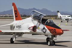 McDonnell Douglas T-45C Goshawk - 05 (NickJ 1972) Tags: phoenix mesa gateway airport 2019 aviation mcdonnelldouglas t45 hawker siddeley hawk goshawk usnavy 163608 b208