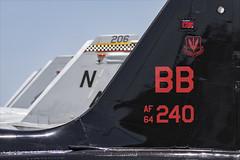 US Tails - 01 (NickJ 1972) Tags: phoenix mesa gateway airport 2019 aviation northrop t38 talon 6413240 bb