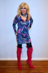 Cortney - Blonde in purple and black with Fuchsia Boots (Cortney10100) Tags: cortneyanderson erotic blonde nylons portrait xdresser feminized cd transvista mtf m2f tv tg tgirl tgurl transgender heels highheels femme tranny trannie transsexual transvestite crossdress crossdresser stilettos thigh people anderson cortney purple lavendar fuchsia boots