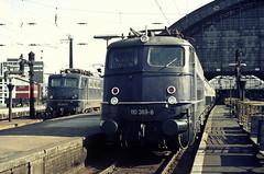 DB 110 369 + 110 206 Köln Hbf 29.03.1976 (Bernd Magiera) Tags: db br110 strecke2670 70er