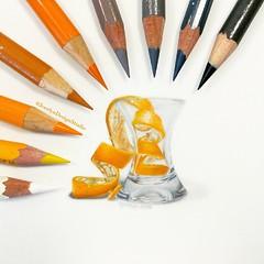 Orange Peel (JocelynDesignStudio) Tags: food drawing orange fruit coloredpencil art