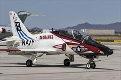 Boeing T-45C Goshawk - 42 (NickJ 1972) Tags: phoenix mesa gateway airport 2019 aviation mcdonnelldouglas boeing t45 hawker siddeley hawk goshawk usnavy 167099 b321 redhawks