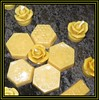 Beeswax Blocks And Rose Candles (M E For Bees (Was Margaret Edge The Bee Girl)) Tags: beeswax ceraalba yellow hexagons roses candles black tablecloth patterns shapes indoors summer apiculture