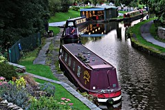 Evening Light - Peak Forest Canal at Furness Vale, Peak District (HighPeak92) Tags: boats narrowboats canals peakforestcanal furnessvale peakdistrict derbyshire canonpowershotsx700hs