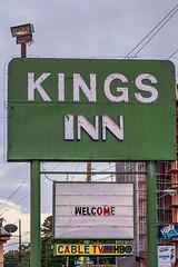 "Vintage Sign, Hot Springs, Highway 7 (snolic...linda) Tags: arkansas hotsprings oldsign 501 vintagesign highway7 oldsignage antiquesigns fujixt30 ""kingsinn"""