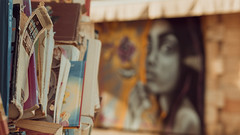 Books vs. Graffiti (Conny Spandl) Tags: streetart street art graffiti books telaviv panaso 45 mm