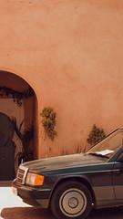 no flying carpet needed (Conny Spandl) Tags: morocco car old marrakech door orange still life street photography panaso 45 mm