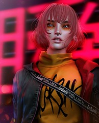 Welcome to the Neon Age (Alisa Perne) Tags: alisa26 alisaperne secondlife sl avatar lelutka korina bento meshhead glamaffair skinapplier tram hair toksik zibska makeup applier