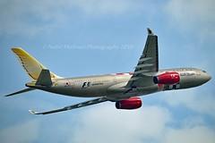 """Gulf Air A9C-KB Airbus A330-243 cn/281 Painted in """"Bahrain F1 Grand Prix"""" special colours @ EGLL / LHR 27-05-2018 (Nabil Molinari Photography) Tags: gulf air a9ckb airbus a330243 cn281 painted bahrainf1grandprix special colours egll lhr 27052018"""