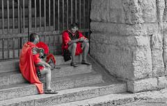 After the hard battle (damian.langer) Tags: italy italia veneto verona arena rome empire legionary battle rest