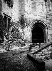 Avignon (Bobbex) Tags: arch avignon provence france fortress castle bw blackandwhite blackwhite monochrome medieval gothic