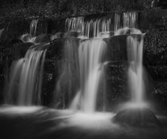 Waterfall (imaginative) (paulmorj) Tags: sonya6000 neewer nd neutraldensity blackwhite bnw bw longexposure waterfall staffordshire
