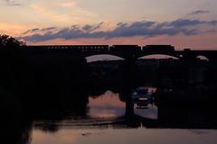 37669+37685 Frodsham viaduct 16th July 2019 (John Eyres) Tags: afterworkingthelastlegofthedalesman 3766937685headbacktobasecrossingtheriverweaveratfrodshamwith5z792055chestercarnforthecs160719