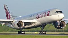A7-ALR (AnDyMHoLdEn) Tags: qatar oneworld a350 egcc airport manchester manchesterairport 05r