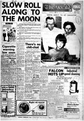 The Melbourne Herald- Thursday July 17, 1969- Page 1- Apollo 11 Liftoff (Vax80) Tags: apollo 11 moon landing nasa national aeronautics space administration july 1969 melbourne the herald newspaper neil armstrong edwin buzz aldrin michael collins saturn command service lunar module rocket cape canaveral kennedy australia united states america xw gtho phase 1 falcon windsor