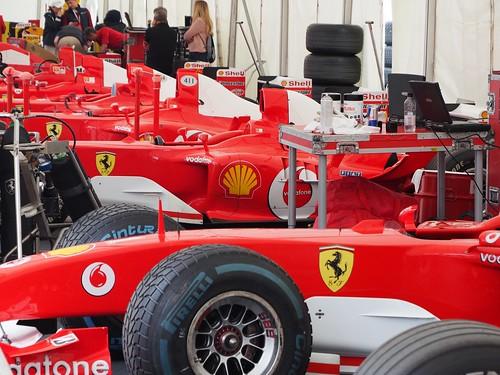 Schumacher Ferrari at Goodwood FoS 2019