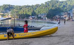 Children on El Nido Beach (zeuszain) Tags: children portrait boat beach shore elnido palawan philippines travel travelphotography kayaks