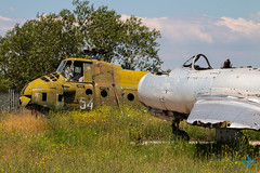 MiG-15 and Mi-4 Hare (Sam Wise) Tags: wreck aircraft decay hare mil plovdiv force air mi4 mig15 aviation preservation krumovo bulgarian bulgaria museum mig