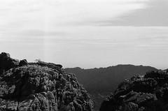 Montagne (brnltn) Tags: white black blackwhite argentique analog montagne corse ciel nuage paysage rocher
